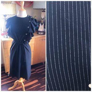Vintage 1940s Style Dress Stripe Rockabilly